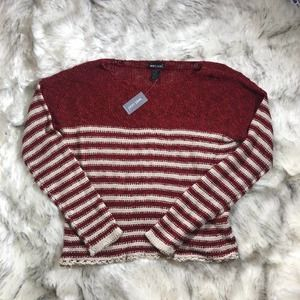 NWT Wet Seal candy cane sweater